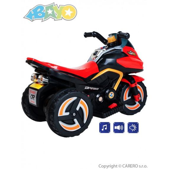 BAYO elektrická motorka KICK žlutá