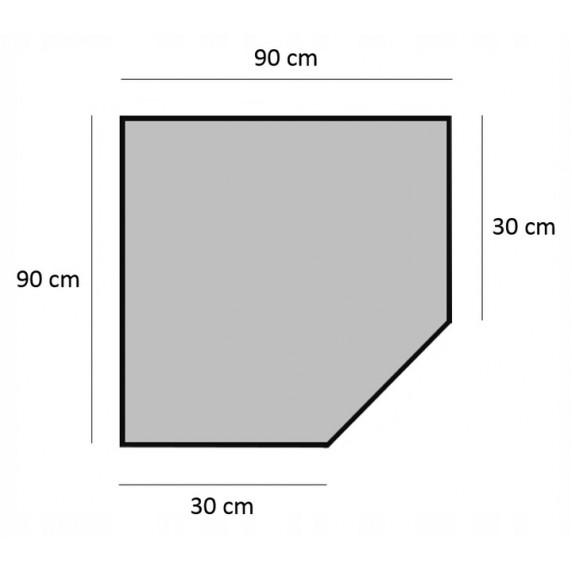 Ingarden Policový regál s 5 policemi 180 x 90 x 30 cm