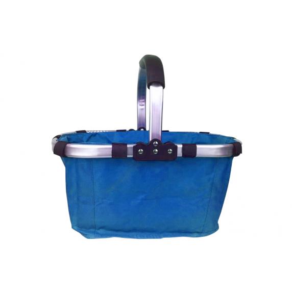 Nákupní košík skládací - modrý