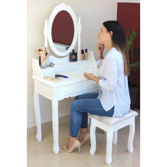 Toaletní stolek s taburetem Inlea4Fun  PHO3992M