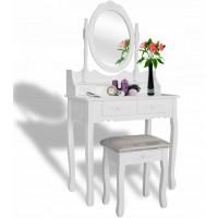 Toaletní stolek s taburetem  Aga MRDT02