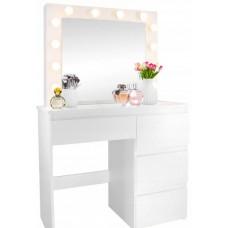 Inlea4Fun toaletní stolek s osvětlením s 4 zásuvkami Preview