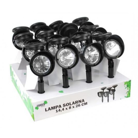 GARDEN LINE Zahradní solární lampa do země Lexie 14,4 x 8 x 26 cm
