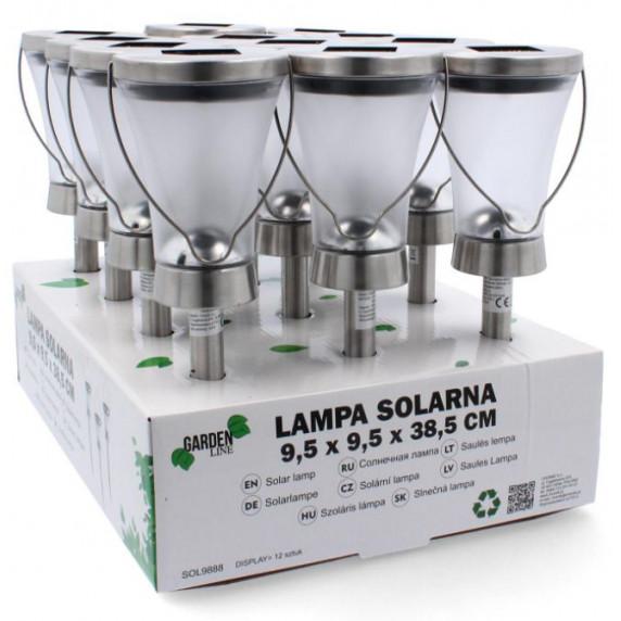 GARDEN LINE Zahradní solární lampa do země Latarnia 9,5 x 9,5 x 38,5 cm