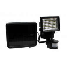 GARDEN LINE Solární lampa s pohybovým senzorem 100 LED - černé Preview