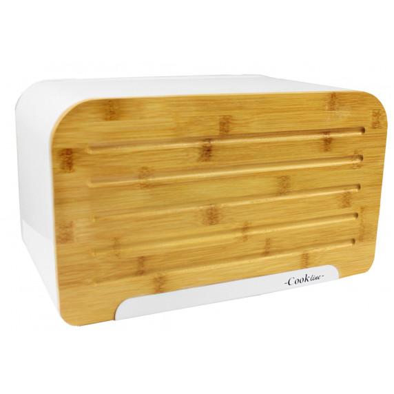 Cook Line ORIGANO Chlebník s bambusovými dvířky - bílý