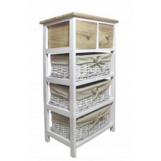Komoda se 2 zásuvkami a 3 ratanovými košíky 40 x 29 x 73 cm InGarden - přírodní hnědá Preview