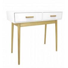 Stolek v skandinávském stylu se 2 zásuvkami 90 x 40 x 79 cm InGarden SCANDINAVIA Preview