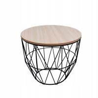 Konferenční stolek 30/25 cm Inlea4Home 9053 - černý/natural