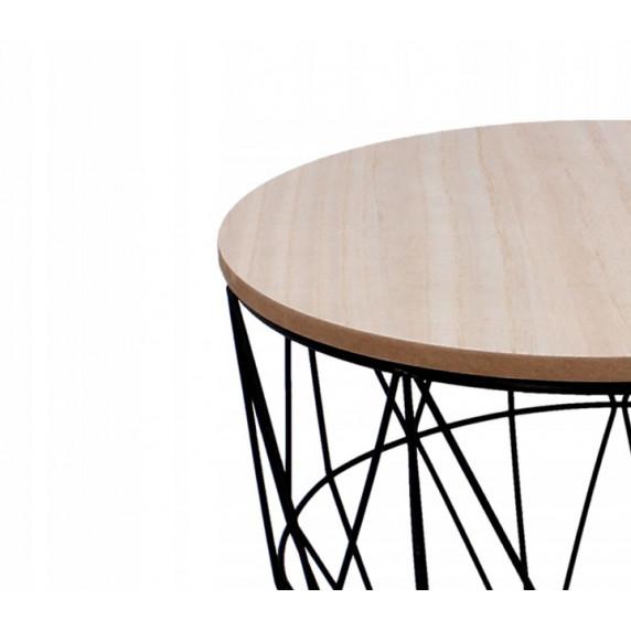 Konferenční stolek 40/35 cm Inlea4Home 9039 - černý/natúr