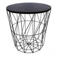 Konferenční stolek 39,5/41 cm Inlea4Home 9114 - černý