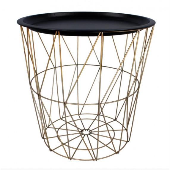 Konferenční stolek 39,5/41 cm Inlea4Home 9176 - zlatý/černý