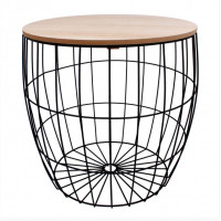 Konferenční stolek 41/41 cm Inlea4Home 9206 - černý/natur