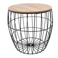 Konferenční stolek 36/36,5 cm Inlea4Home 9213 - černý/natur