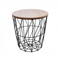 Konferenční stolek 29/30,5 cm Inlea4Home 9169 - černý/natur
