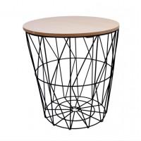 Konferenční stolek 34/36 cm Inlea4Home 9152 - černý/natur