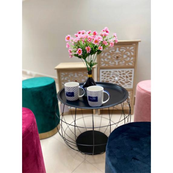 Konferenční stolek 35x38x33 cm Inlea4Home 9091 - černý