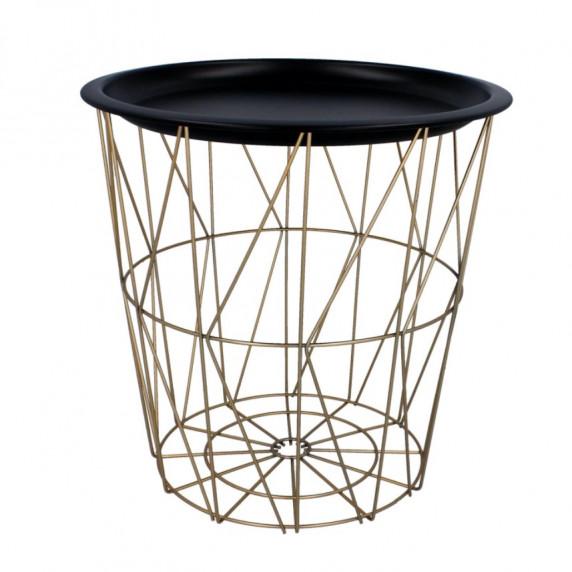 Konferenční stolek 34/36 cm Inlea4Home 9183 - zlatý/černý