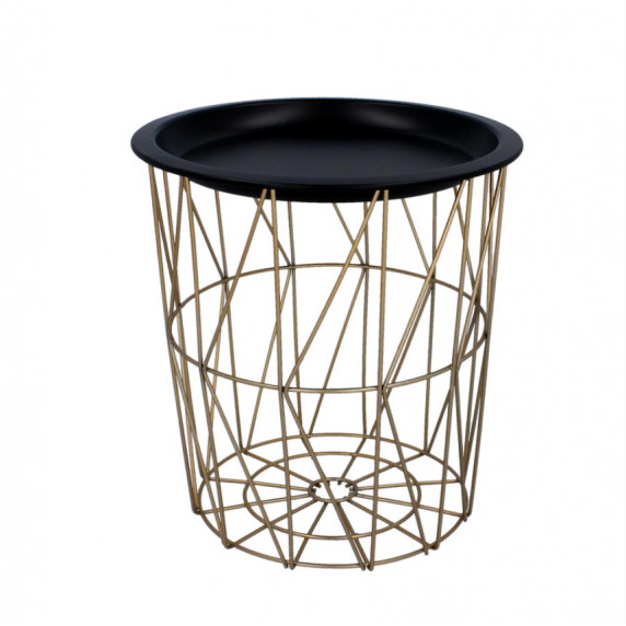 Konferenční stolek 29/30,5 cm Inlea4Home 9190 - zlatý/černý