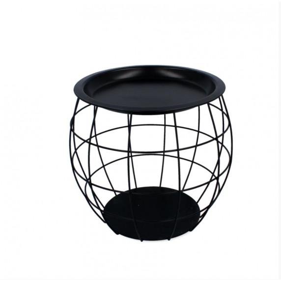 Konferenční stolek 27x29x28 cm Inlea4Home 9107 - černý
