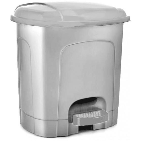 Odpadkový koš s pedálem, plastový 11,5 l Inlea4Home - šedý