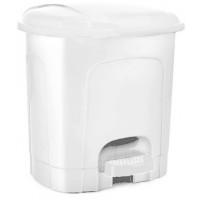 Odpadkový koš s pedálem, plastový 11,5 l Inlea4Home - bílý