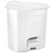Odpadkový koš s pedálem, plastový 21 l Inlea4Home -bílý Preview