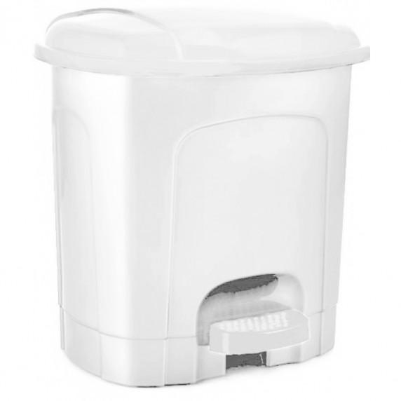 Odpadkový koš s pedálem, plastový 21 l Inlea4Home -bílý
