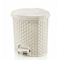 Odpadkový koš v ratanovém designu 11,5 l Inlea4Home - bílý
