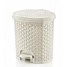 Odpadkový koš v ratanovém designu 5,5 l Inlea4Home - bílá Preview