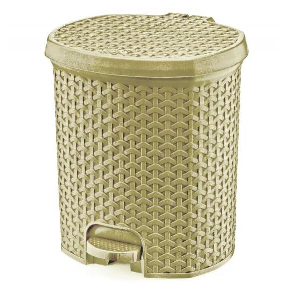 Odpadkový koš v ratanovém designu 11,5 l Inlea4Home - béžový