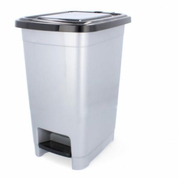 Odpadkový koš s pedálem, plastový 15 l Inlea4Home - bílý