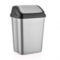 Výklopný odpadkový koš VITTORIO 26 l Inlea4Home - šedý