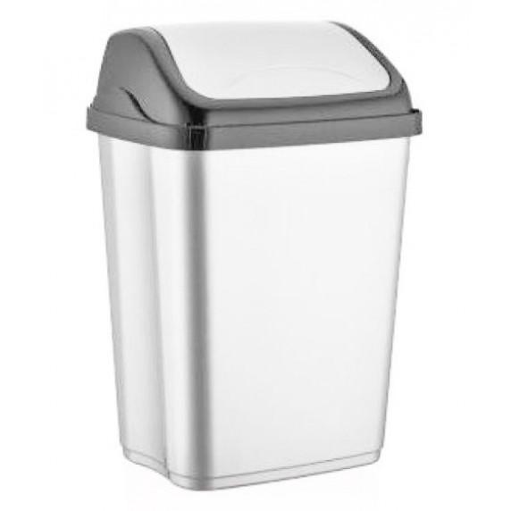 Výklopný odpadkový koš VITTORIO 16 l Inlea4Home - bílý