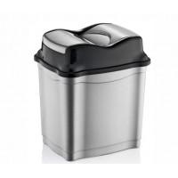 Odpadkový koš se sklopným víkem 9 l  Inlea4Home - šedý