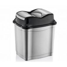 Odpadkový koš se sklopným víkem 9 l  Inlea4Home - šedý Preview