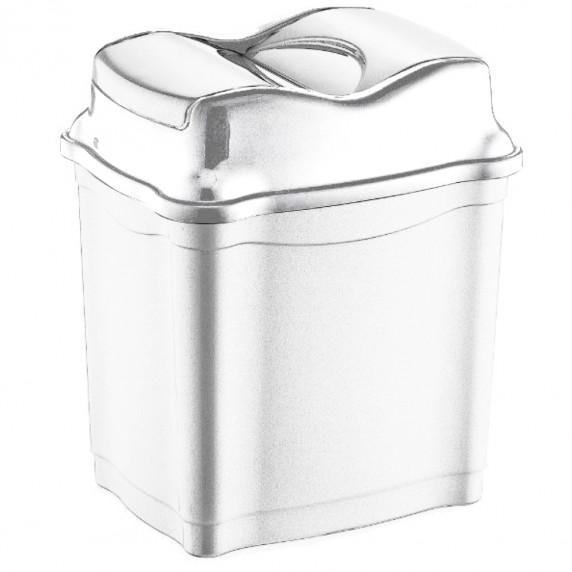 Odpadkový koš se sklopným víkem 28 l  Inlea4Home - bílý