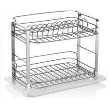 Dvoupatrový kovový odkapávač na nádobí Inlea4Home  Preview