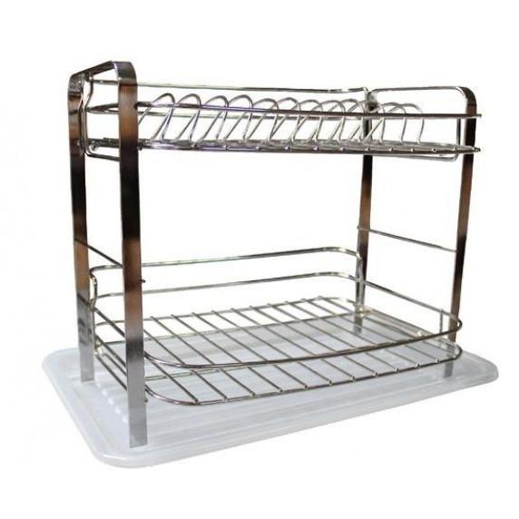 Dvoupatrový kovový odkapávač na nádobí Inlea4Home