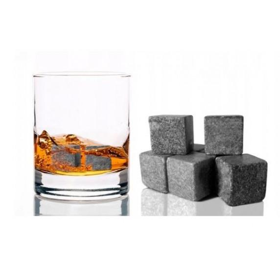 Ledové kostky z kamene na whisky, koktail, limonádu Inlea4Home