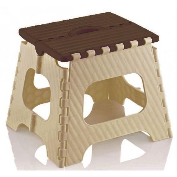 Skládací stolička 35,5 cm Inlea4Home - béžovo-hnědá
