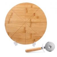 Deska na pizzu s kráječem 33x1,5 cm Inlea4Home