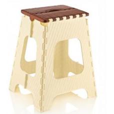 Skládací stolička 45,5 cm Inlea4Home - béžovo-hnědá Preview