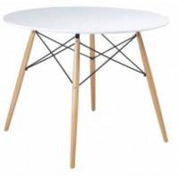 Jídelní kulatý stůl Aga 80 cm - bílý