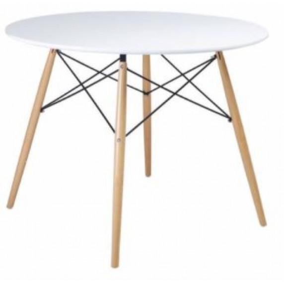 Jídelní kulatý stůl Aga 80 cm - bílý - MR2030-80