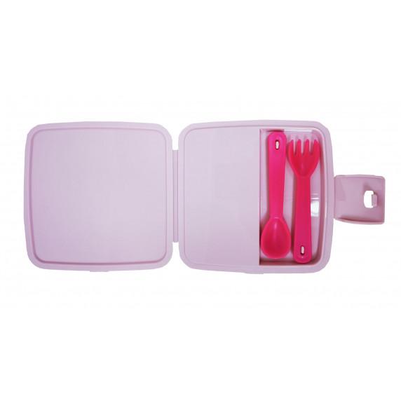 Potravinový box na občerstvení s příborem Inlea4Home - jednorožec Music