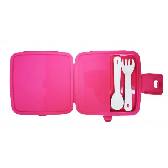 Potravinový box na občerstvení s příborem Inlea4Home - jednorožec