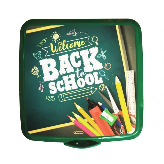 Potravinový box na občerstvení s příborem Inlea4Home - Back to School