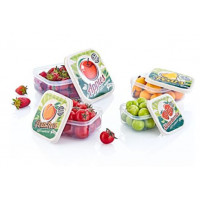 Tároló doboz szett mintás 4 részes Inlea4Home -gyümölcs