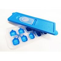 Silikonová forma na led s víčkem Inlea4Home - modrá